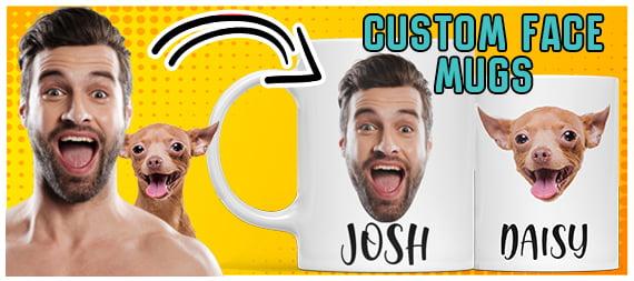 personalized custom face mug